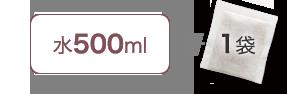 水500ml+1袋